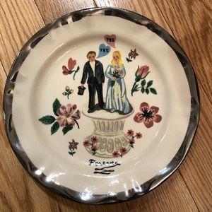 Anthropologie Nathalie Lete Wedding Plate